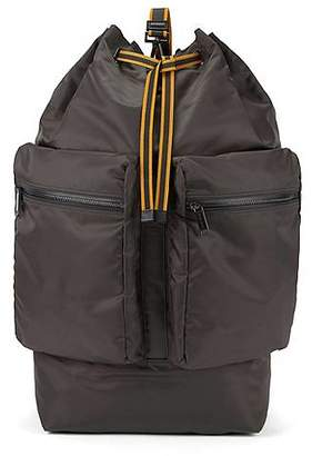 HUGO BOSS Fashion Show Capsule oversize technical backpack with leather trims