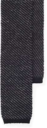 Ralph Lauren Melange Knit Silk-Linen Tie