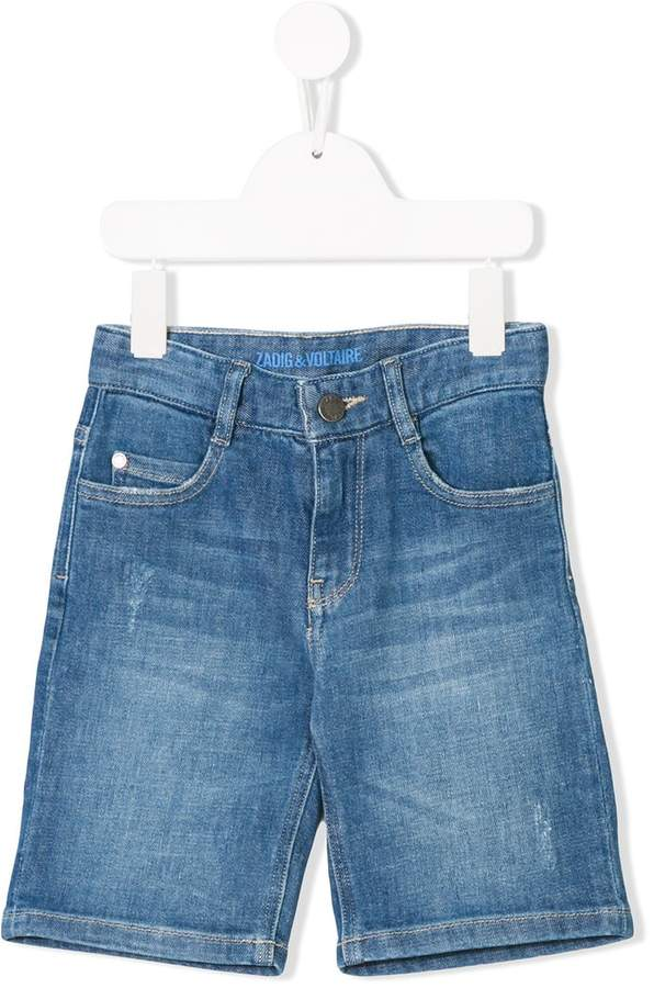 Zadig & Voltaire Kids denim bermuda shorts