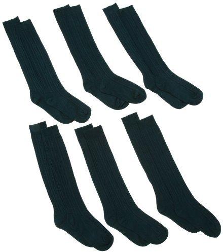Jefferies Socks Little Boys' School Uniform Acrylic Cable Knee High 6 Pack