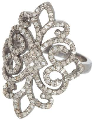 ADORNIA Champagne Diamond Florentine Ring - 1.1 ctw