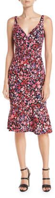Elie Tahari Yirma Sleeveless Floral-Print Dress