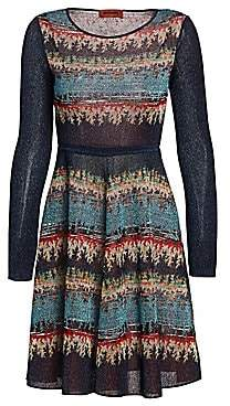 Missoni Women's Long-Sleeve Lurex A-Line Dress