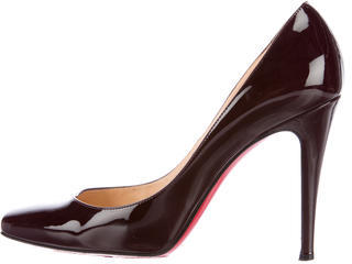 Christian Louboutin  Christian Louboutin Patent Leather Square-Toe Pumps