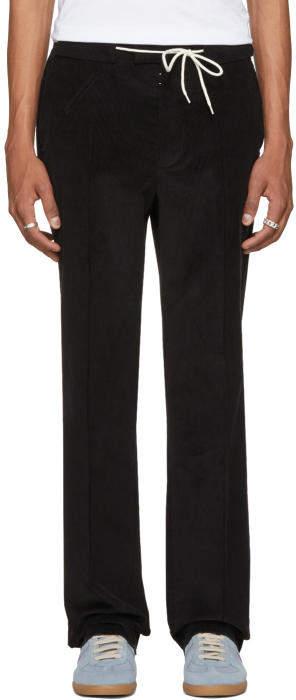 Maison Margiela Black Corduroy Suit Trousers