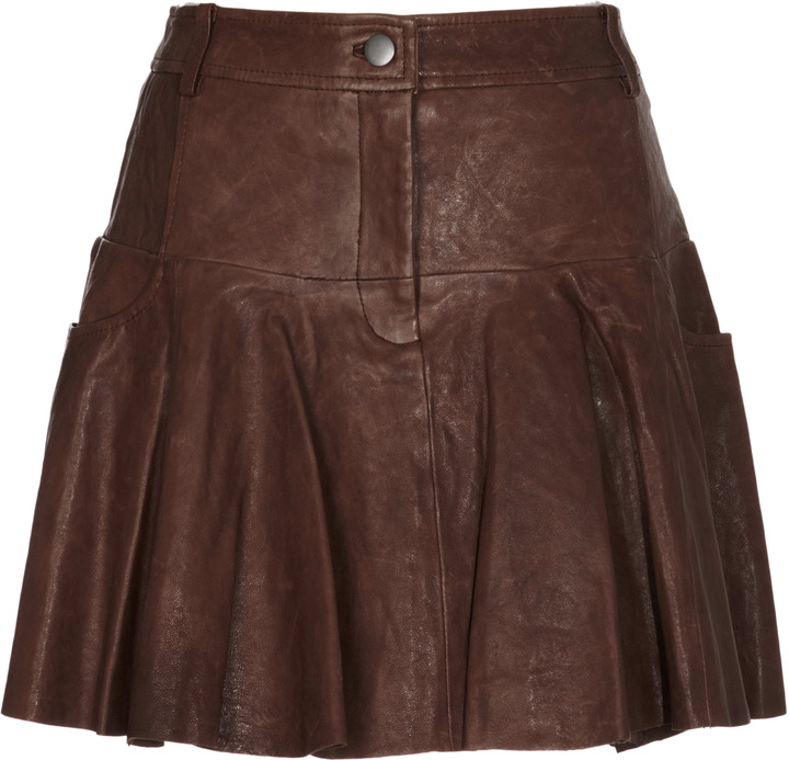 Thakoon Leather Mini Skirt