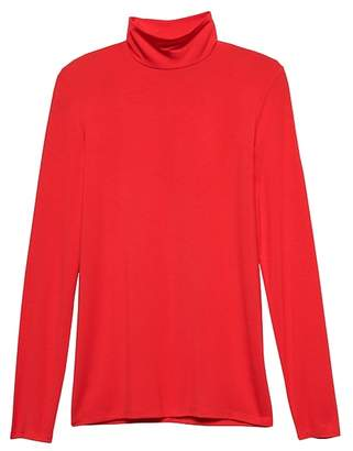 Banana Republic Petite Threadsoft Turtleneck T-Shirt