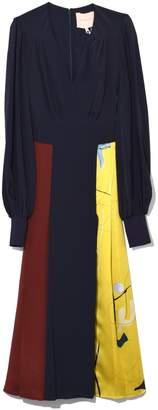 Roksanda Teruko Dress in Midnight/Merlot
