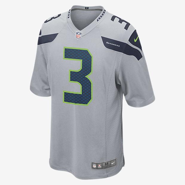 Nike NFL Seattle Seahawks Game Jersey (Russell Wilson) Men's Football Jersey