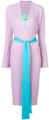 Emilio Pucci Ribbed Knit Belted Cardigan
