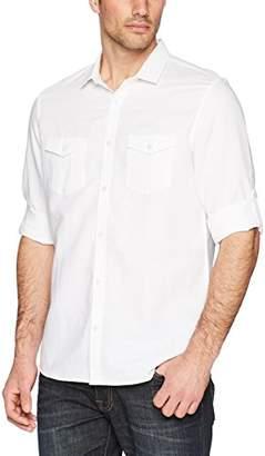Calvin Klein Men's Slim Fit Stripe Long Sleeve Non-Iron Button Down Shirt