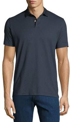 Theory Men's Bayliss Jacquard Standard Polo Shirt