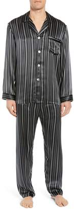 Majestic International Fresh Ink Stripe Silk Pajama Set