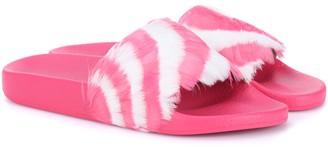 Valentino feather slides
