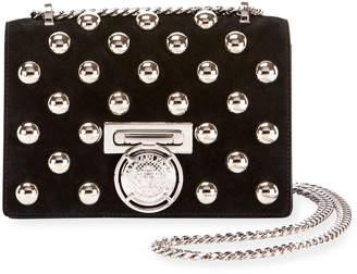 Balmain Box 20 Flap Pearl-Studded Shoulder Bag