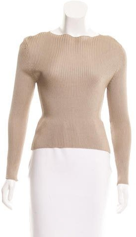 prada Prada Silk Rib Knit Top