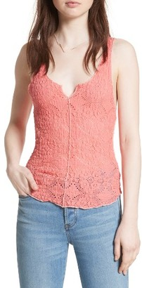 Women's Free People Piece Dye Lace Camisole $30 thestylecure.com