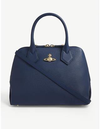 Vivienne Westwood Navy Blue Balmoral Leather Tote Bag
