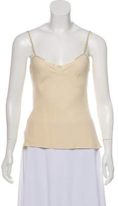 Temperley London Sleeveless Silk Top Nude Sleeveless Silk Top