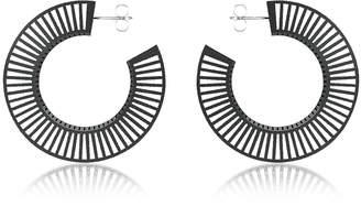 Vojd Studios Phase Black Hoop Earrings