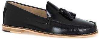 Topman Black Leather Tassel Loafers