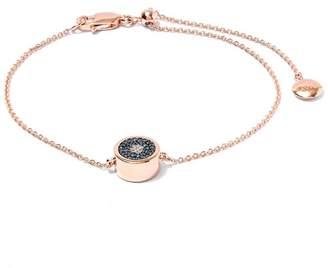 Monica Vinader Rose Gold-Plated Evil Eye Diamond Bracelet