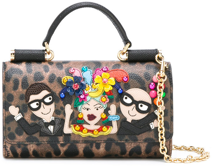 Dolce & Gabbana mini Von designer's patch crossbody bag