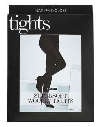 Naturally Close 2 Pack Supersoft Woolly Tights