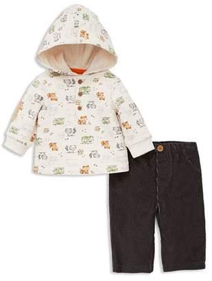 Little Me Boys' Woodland Animals Hoodie & Corduroy Pants Set - Baby