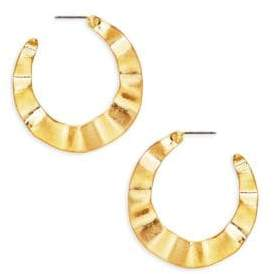 Kenneth Jay Lane Hammered Half Hoop Earrings