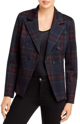 Bagatelle Plaid Double-Breasted Blazer