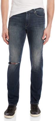 Paige Distressed Lennox Straight Cut Jeans