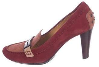 Tod's Suede Round-Toe Pumps