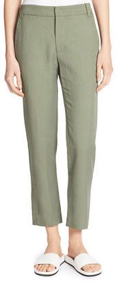 Vince Coin-Pocket Cropped Straight-Leg Trousers $295 thestylecure.com