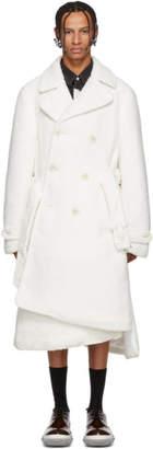 Comme des Garcons White Boa Plushy Coat