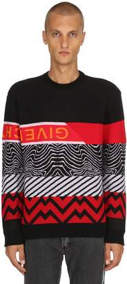 Givenchy Wavy Jacquard Wool Knit Sweater