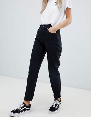 Pull&Bear classic mom jean in black