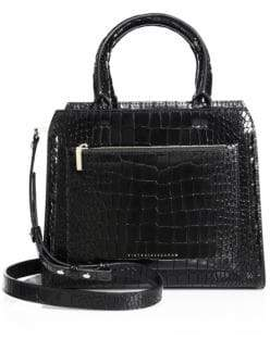 Victoria Beckham Small City Victoria Croc-Embossed Leather Tote