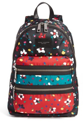 Marc Jacobs Biker Floral Print Backpack - Black $240 thestylecure.com