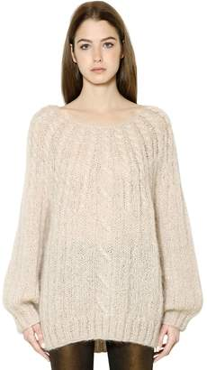 Mes Demoiselles Mohair Blend Cable Knit Sweater