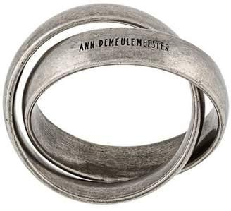 Ann Demeulemeester embossed linked rings