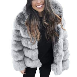 e18b5dd8e67e5 Vanvler❤women coat jacket Women Faux Mink Fur Coat Plus Size