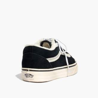 Madewell x Vans Unisex Old Skool Sneakers in Suede and Sherpa