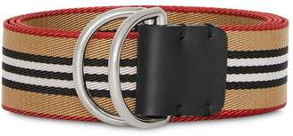 Burberry heritage stripe D-ring belt