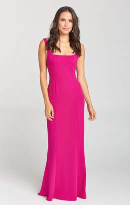 Show Me Your Mumu Belinda Dress ~ Crepe Stretch Fuchsia Rose