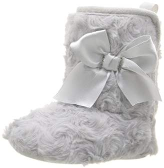 Gerber Girls' Rosette Faux Fur Satin Bow Boot