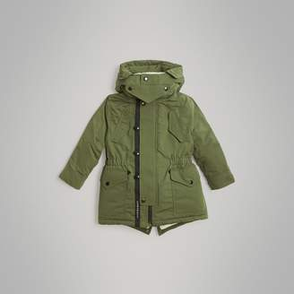 Burberry Childrens Detachable Hood Down-filled Parka Coat