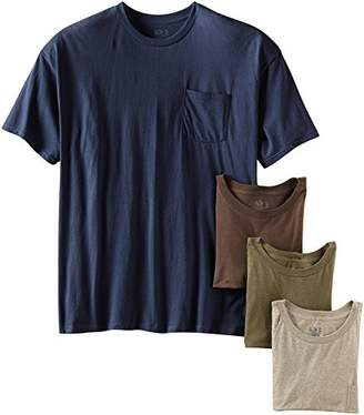 Fruit of the Loom byFruit of The Loom Men's Cotton Pocket Crewneck Undershirts Tanks T-Shirts (, Large/42-44 Chest)