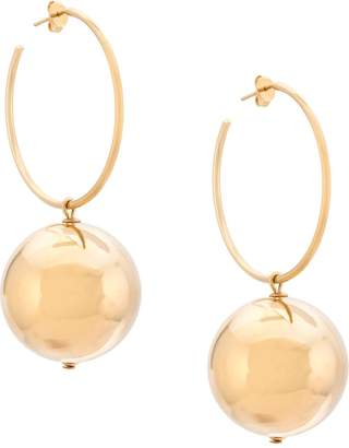 Carolina Herrera double gold ball earring