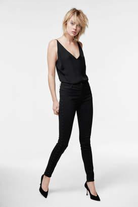 J Brand Maria High-Rise Super Skinny In Black Eyelets